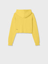 Organic cotton cropped hoodie—saffron yellow