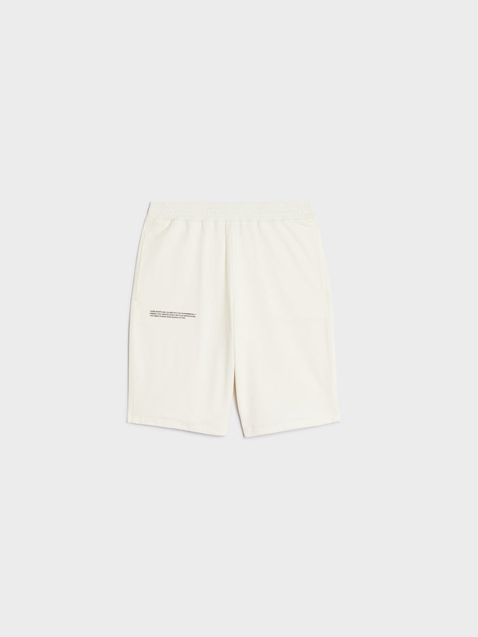 Organic cotton pique shorts—off-white