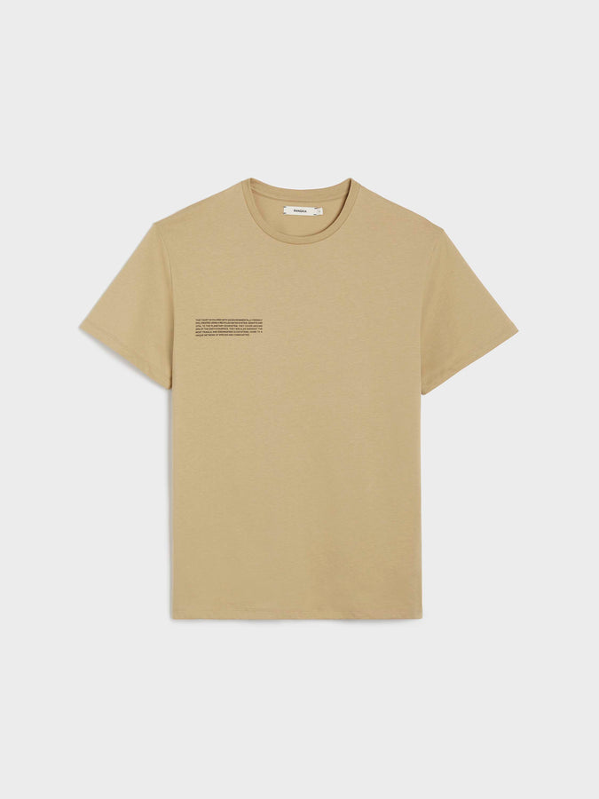 Organic cotton t-shirt—sahara sand
