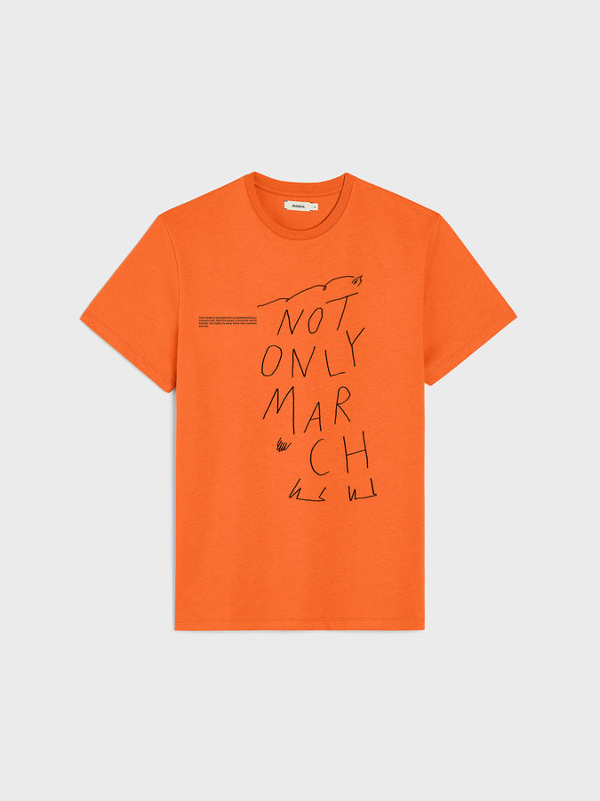 IWD Upcycled Capsule Not Only March T-shirt—persimmon orange