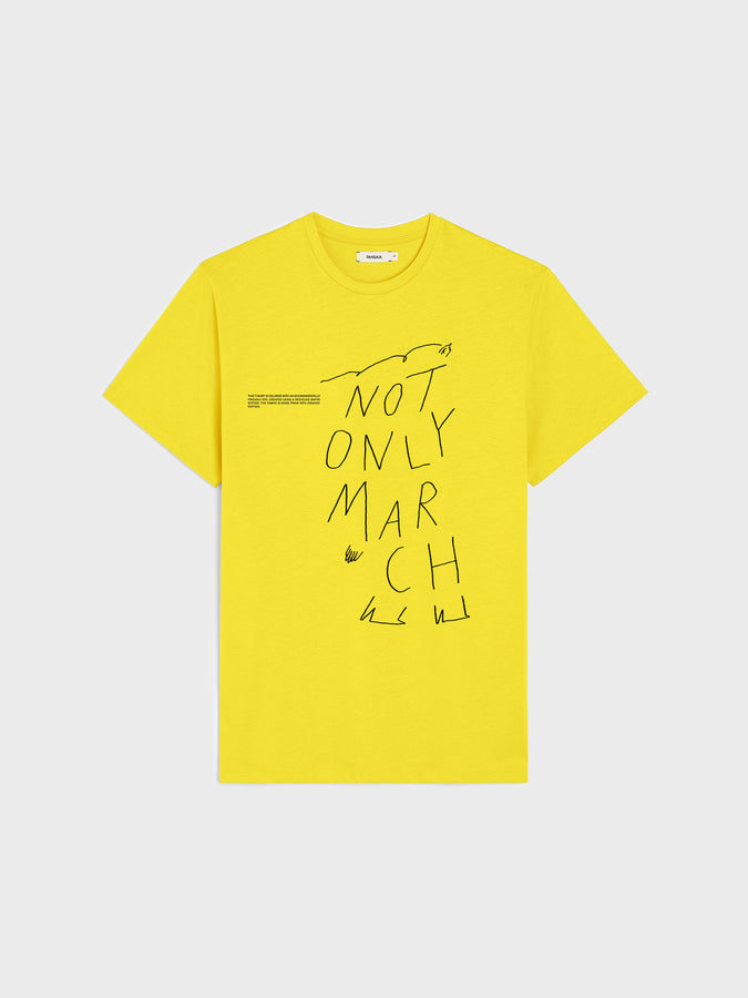 IWD Upcycled Capsule Not Only March T-shirt—saffron yellow