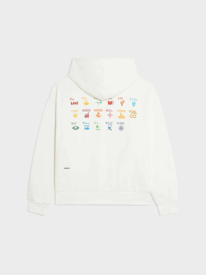PANGAIA x SDGs lightweight recycled cotton hoodie—off-white