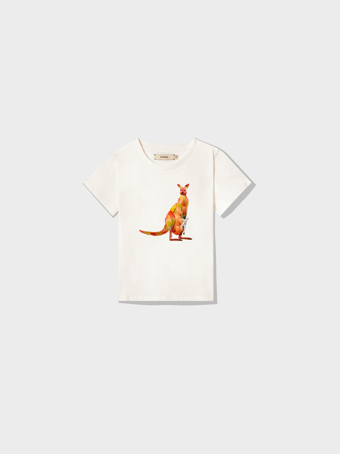 Kids Protect The Species T-shirt Kangaroo—off-white
