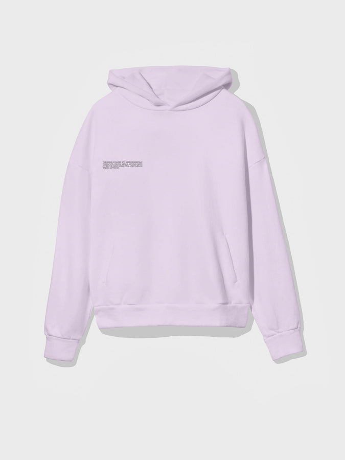 Recycled cotton hoodie—earl grey