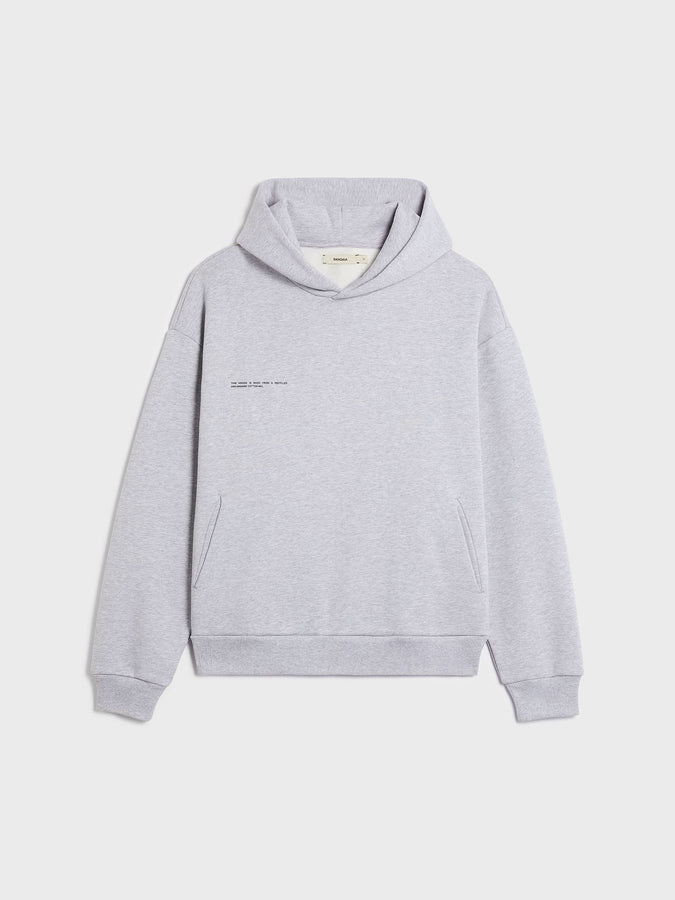 Heavyweight recycled cotton hoodie—grey marl