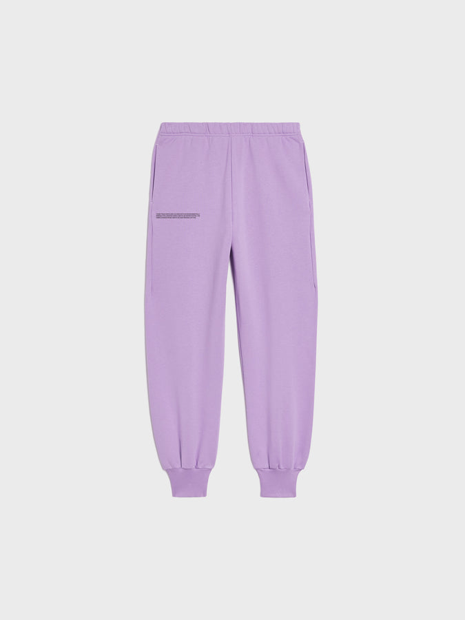 Women's heavyweight recycled cotton cuffed track pants—orchid purple
