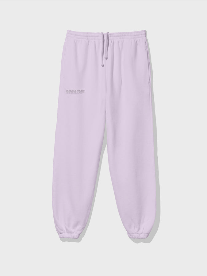 Recycled cotton trackpants—earl grey