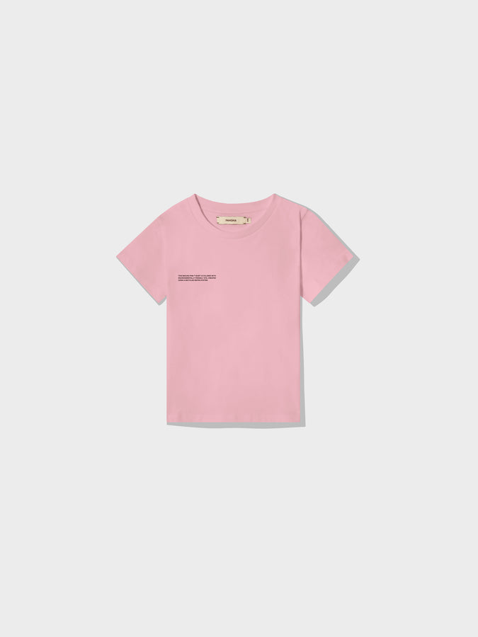 Kids organic cotton t-shirt—sakura pink