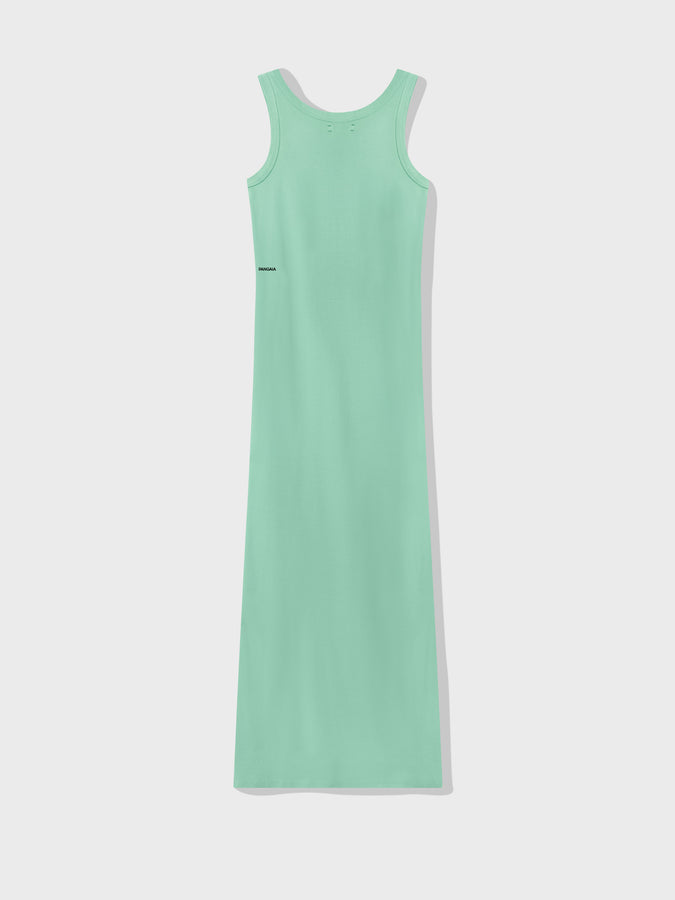 Organic cotton long tank dress—mint