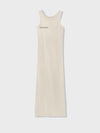 Organic cotton long tank dress—sand