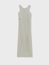 Organic cotton long tank dress—stone