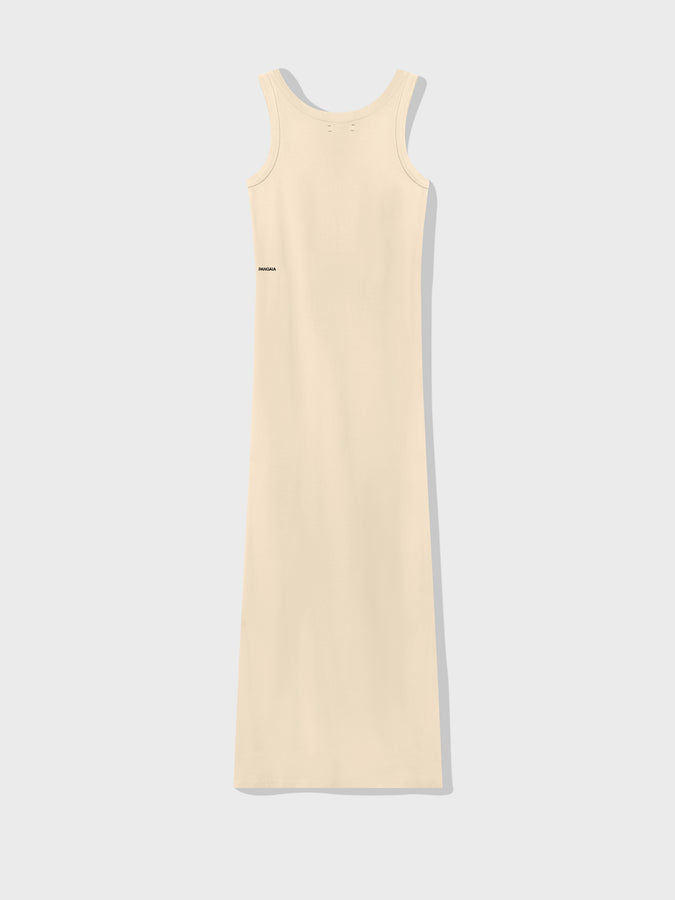 Organic cotton long tank dress—vanilla