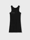 Organic cotton tank dress—black
