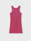 Organic cotton tank dress—cherry