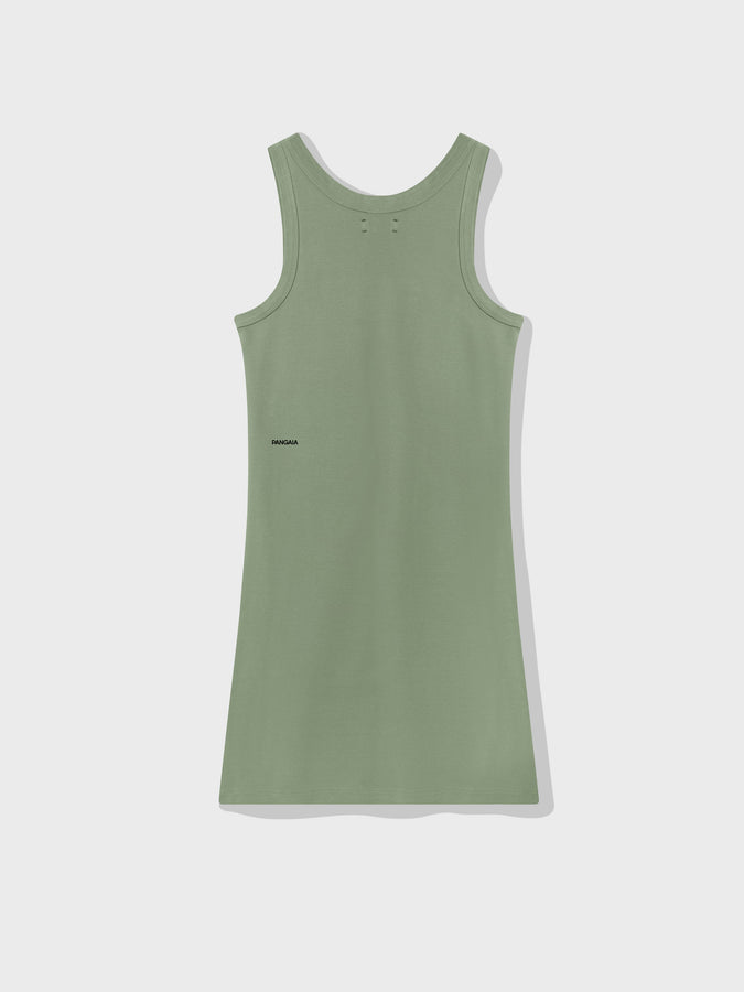 Organic cotton tank dress—khaki