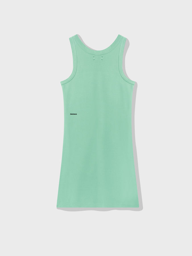 Organic cotton tank dress—mint