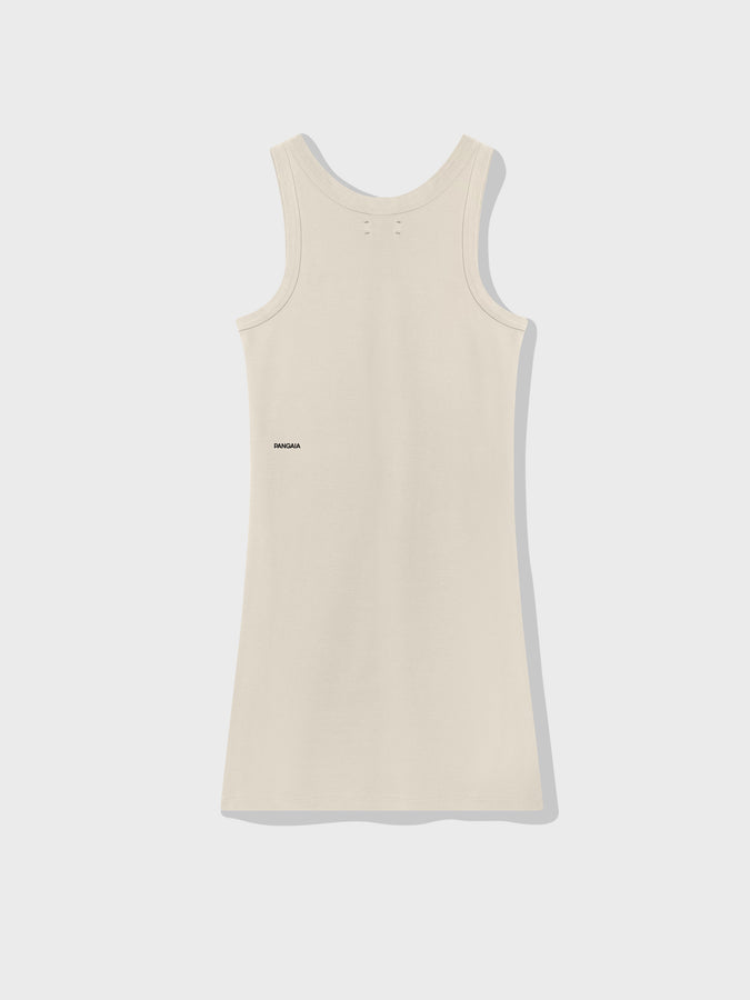 Organic cotton tank dress—sand