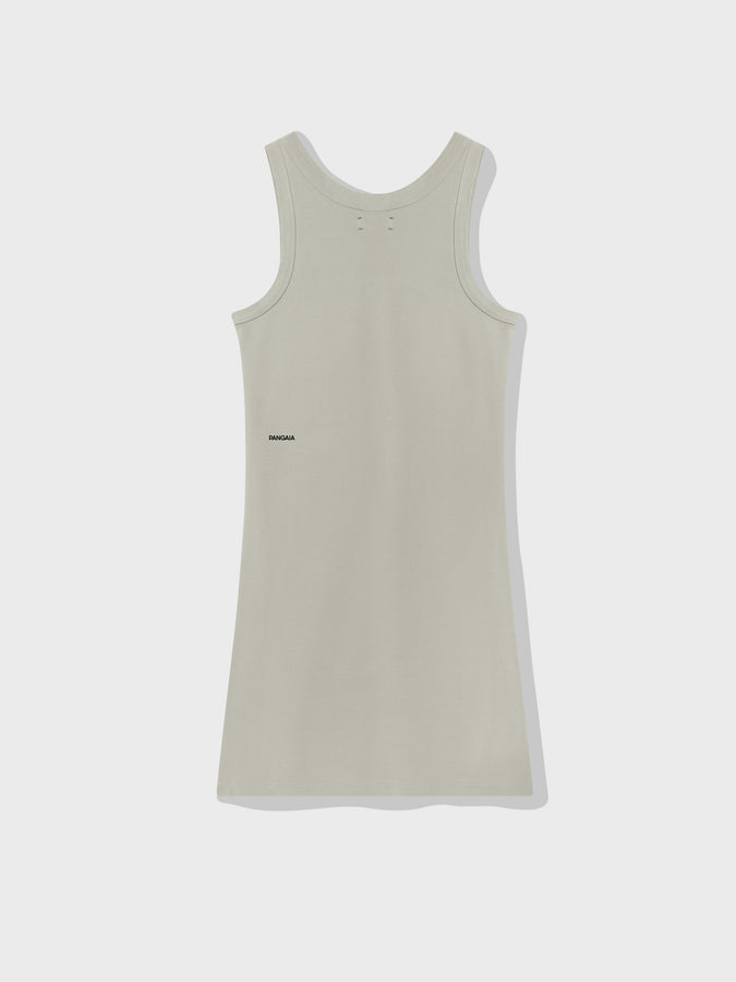 Organic cotton tank dress—stone