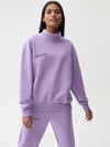 Women's heavyweight recycled cotton high neck sweatshirt—orchid purple