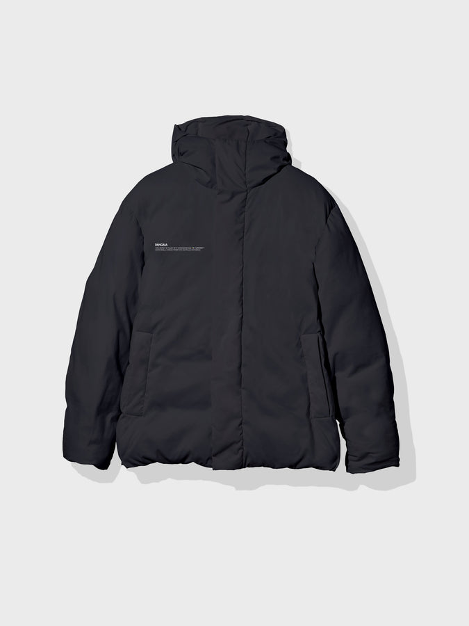 Puffer jacket short—black