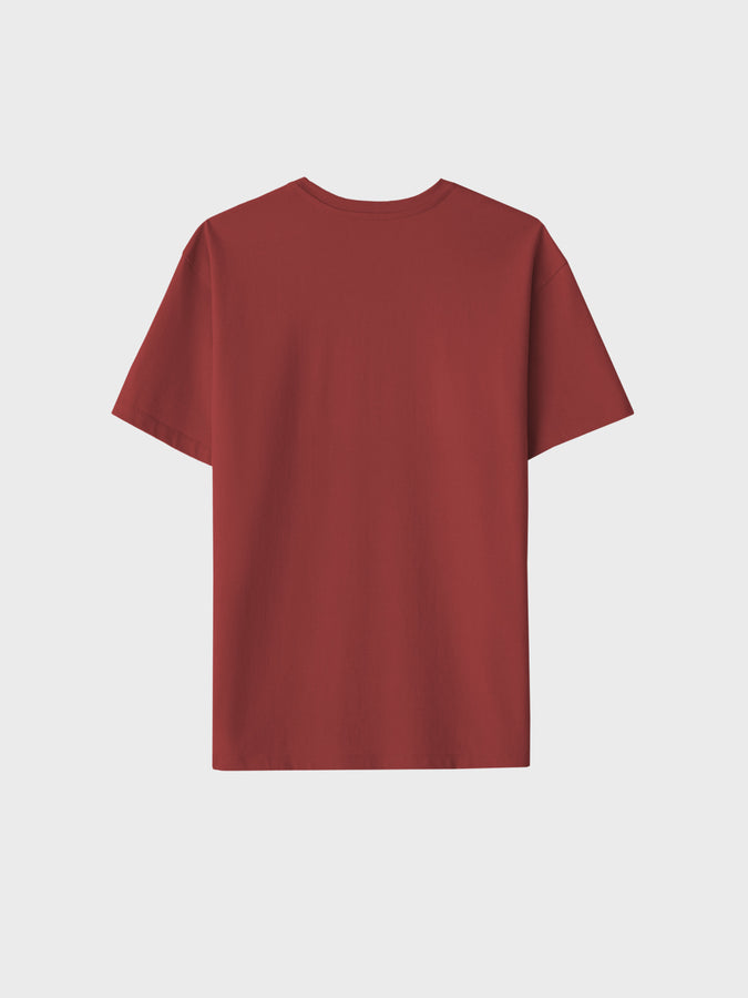 Botanical dye t-shirt—madder red