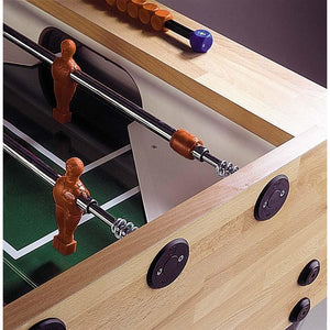 Garlando G-5000 Wood Grained Foosball Table With Sanded Glass Playfield