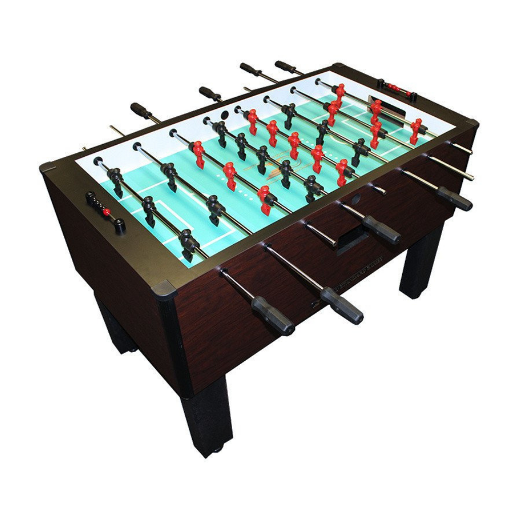 Gold Standard Games Home Pro Foosball Table in Mahogany with Chrome Rods and Black Handles