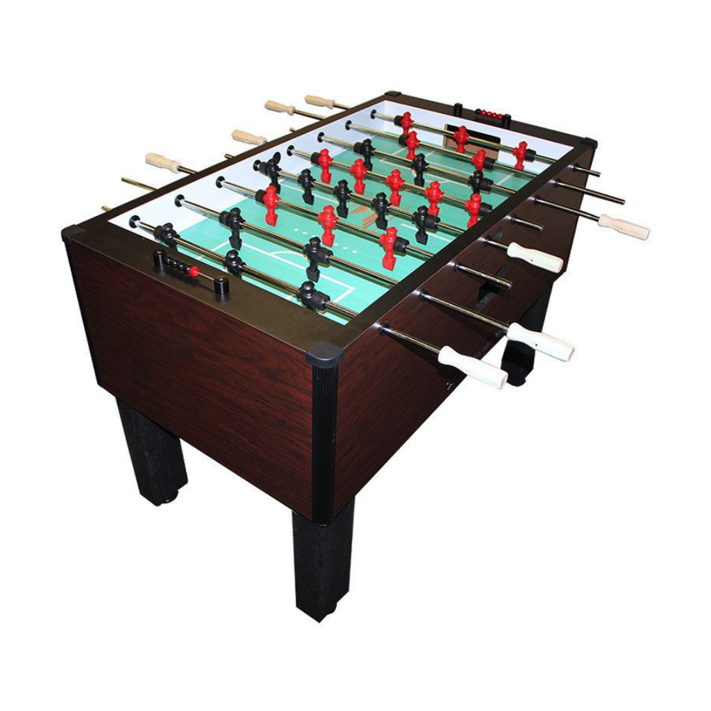 Gold Standard Games Home Pro Foosball Table in Mahogany with Stainless Rods and Wood Handles
