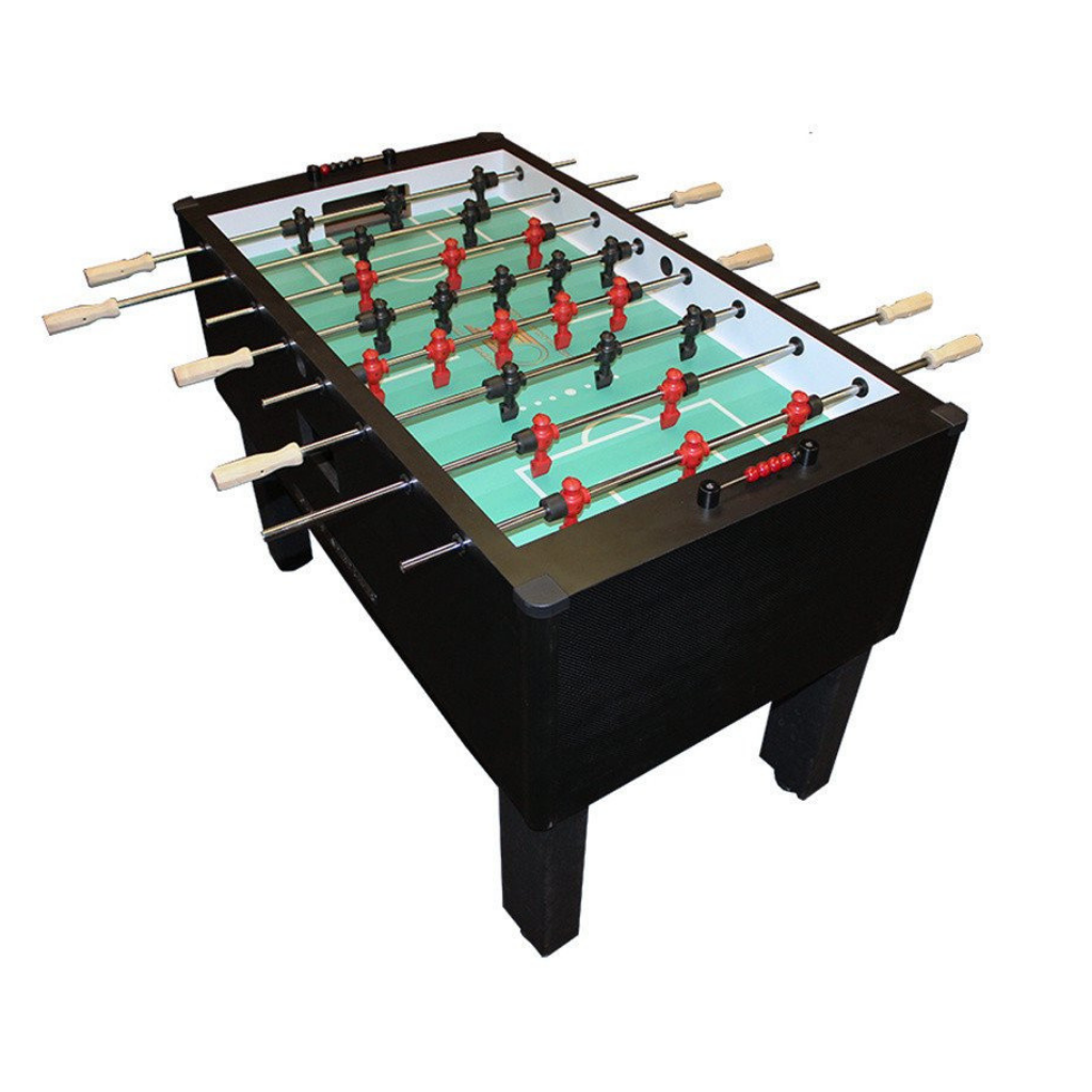 Gold Standard Games Home Pro Foosball Table in Carbon Fiber with Stainless Rods and Wood Handles