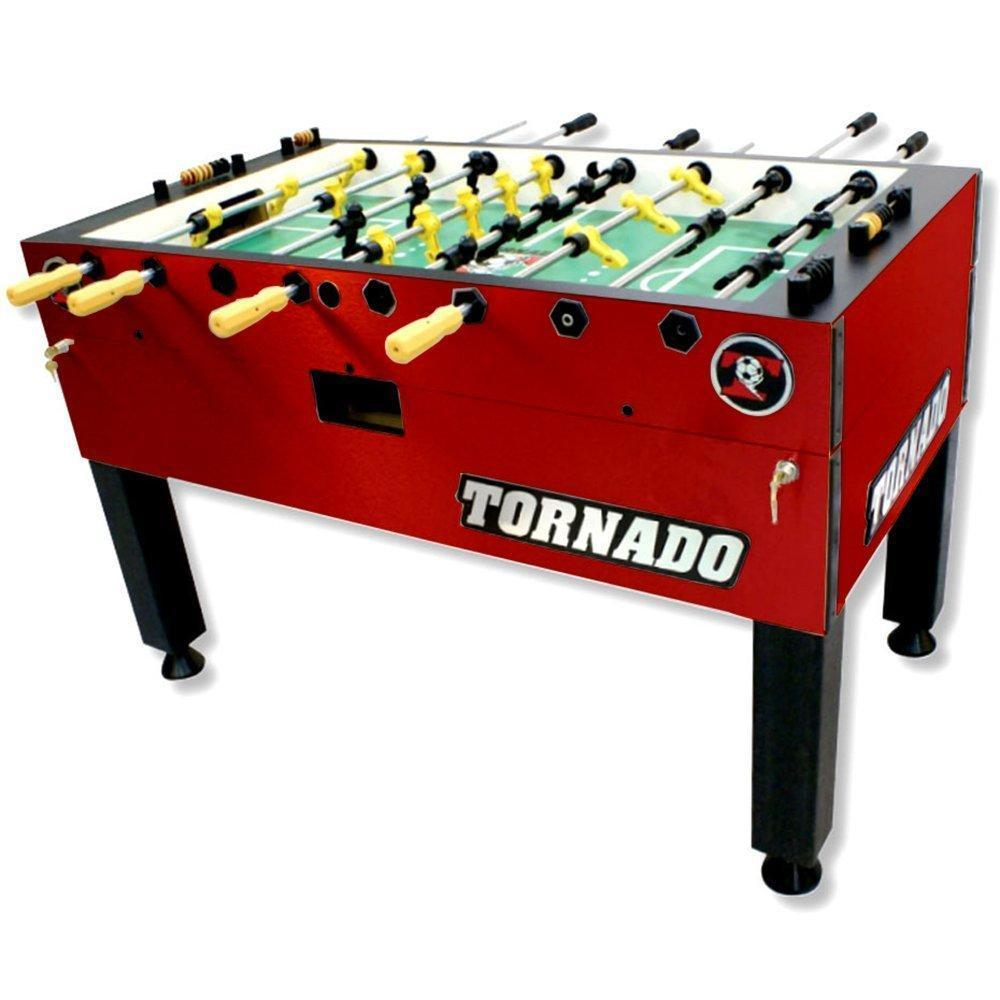 Tornado T-3000 Red Foosball Table (Three Goalies)