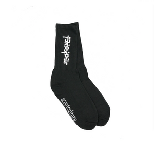 Load image into Gallery viewer, MOKOVEL MID-LENGTH SOCKS BLACK