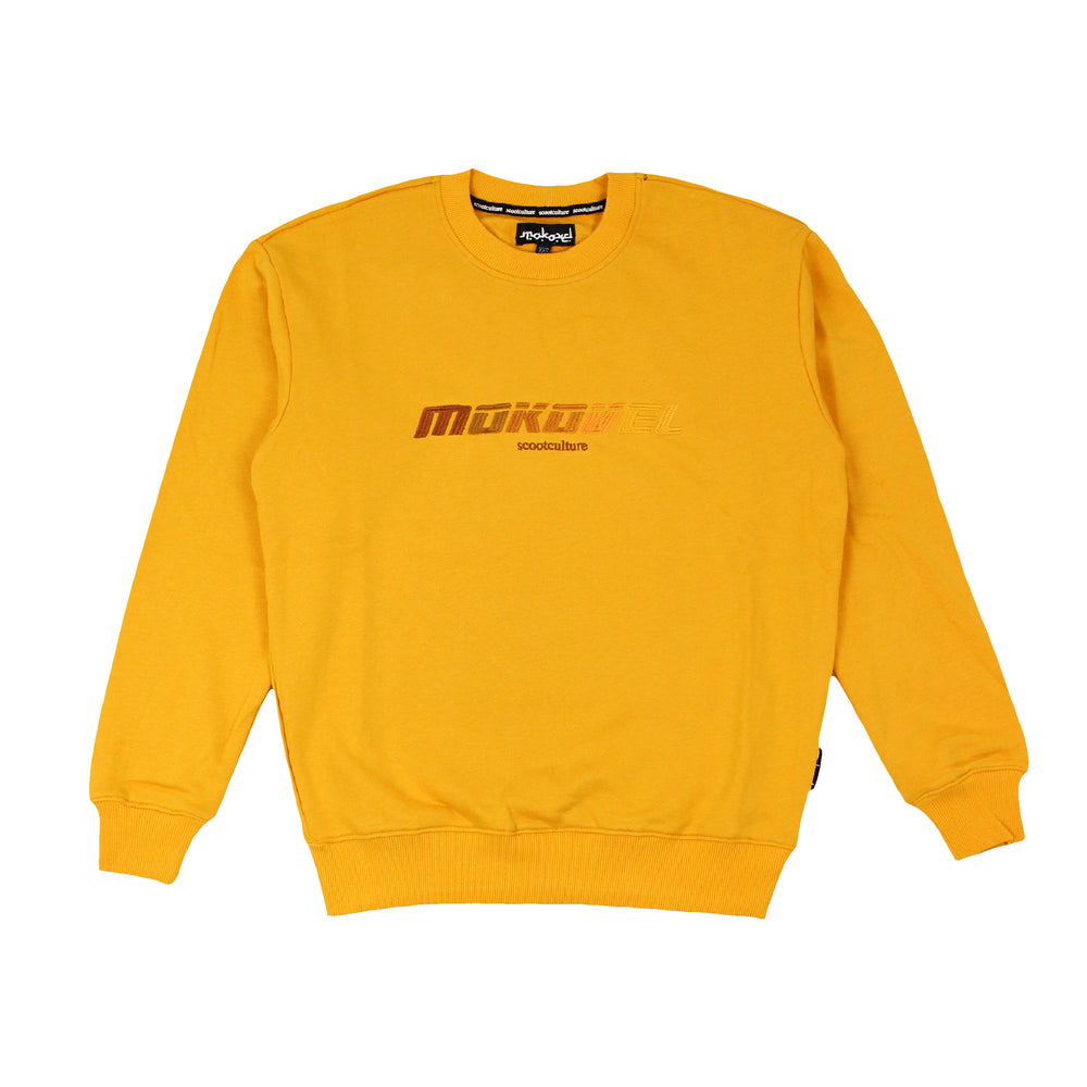 YELLOW SPEED DEGRADED CREWNECK