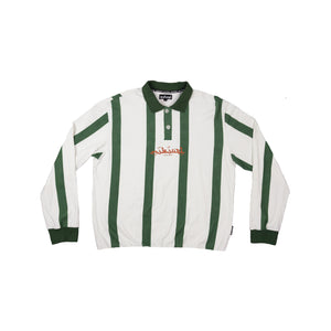 Load image into Gallery viewer, STRIPED GREEN RUGBY POLO
