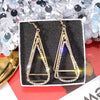 Geometric Triangle Hollow Eardrop in Gold Alloy