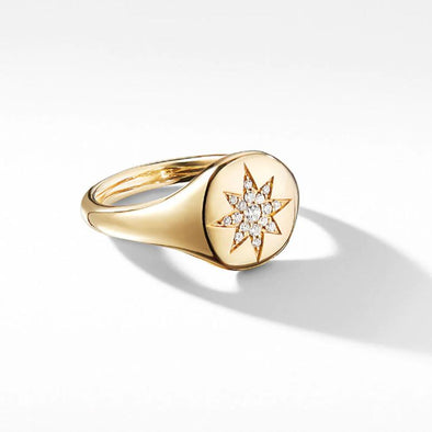 Minimalist Yellow Gold Women's Ring in 925 Sterling Silver