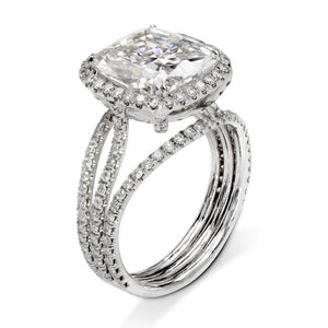 5.2 CT Cushion Cut White Sapphire Wedding Ring Set  in 925 Silver