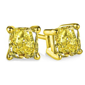 3.5 CT Cushion Cut Stud Earrings