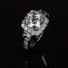 Cnvpk 3.4 Ct Halo Round Cut  925 Silver Engagement Ring