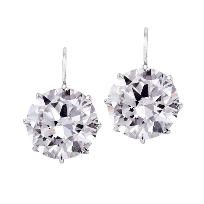 df649231b Round Cut Lab-created Sapphire Simple Drop Earrings in 925 Sterling Silver