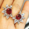 3.5 CT Royal Ruby Lab-created Diamond Stud Earring in Sterling Silver