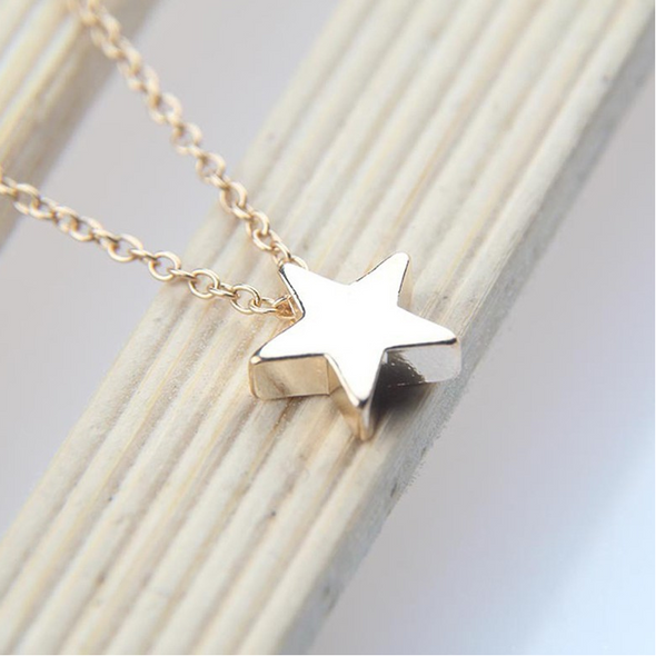 Minimalist Mini Star Necklace in Gold Alloy