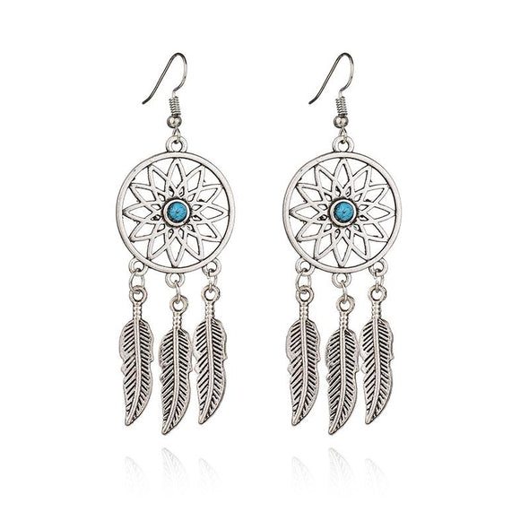 Dream Catcher Drop Earrings in Alloy
