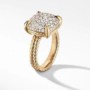 Cnvpk 1.2 Ct T.W Ring in Yellow Gold Tone Sterling Silver