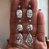 16CT Pear&Marquise&Cushion&Oval Cut Sterling Silver Earrings