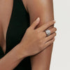 Lab-created Sapphire Simple Fashion Ring in 925 Sterling Silver