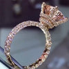 4 CT Stunning Rose Gold Tone Radiant Cut Sterling Silver Engagement Ring