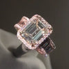 5.50 CT Emerald Cut Lab-created Sterling Silver Engagement Ring