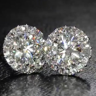 3.5 CT Lab-created Diamond Stud Earring