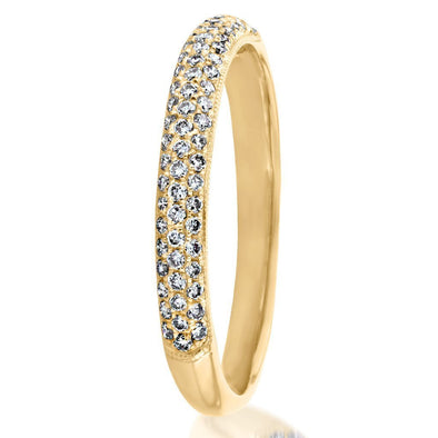 Lab-created Sapphire Yellow Gold Wedding Band in 925 Sterling Silver
