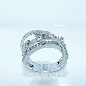 Cnvpk 1.8 Ct Split Shank Butterfly Round Cut 925 Silver Ring
